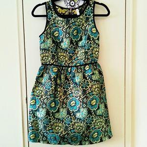 Xhiliration metallic embroidered iridiscent dress